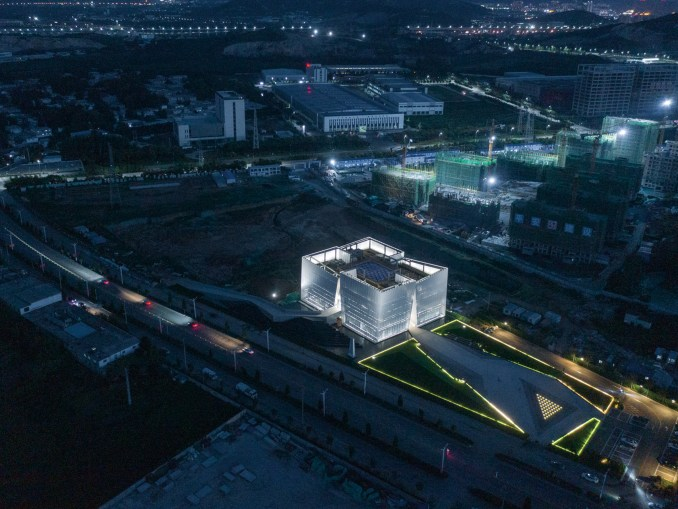 Aerial view of Shuifa Geographic Information Industrial Park Exhibition Center by AOE in China