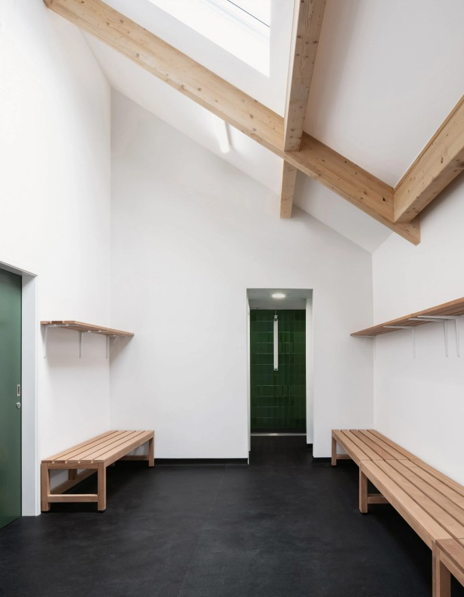 Changing room in cricket club