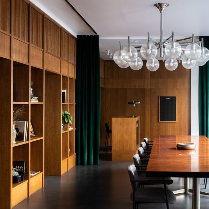 Interiors of The Bureau co-working space in Paris