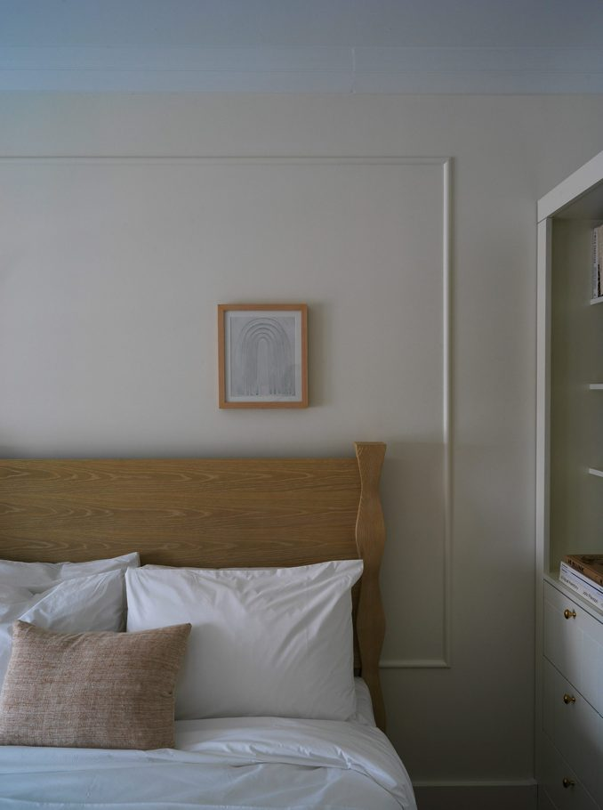Guest bedrooms in The Lake House on Canandaigua hotel by Studio Tack and the Brooklyn Home Company