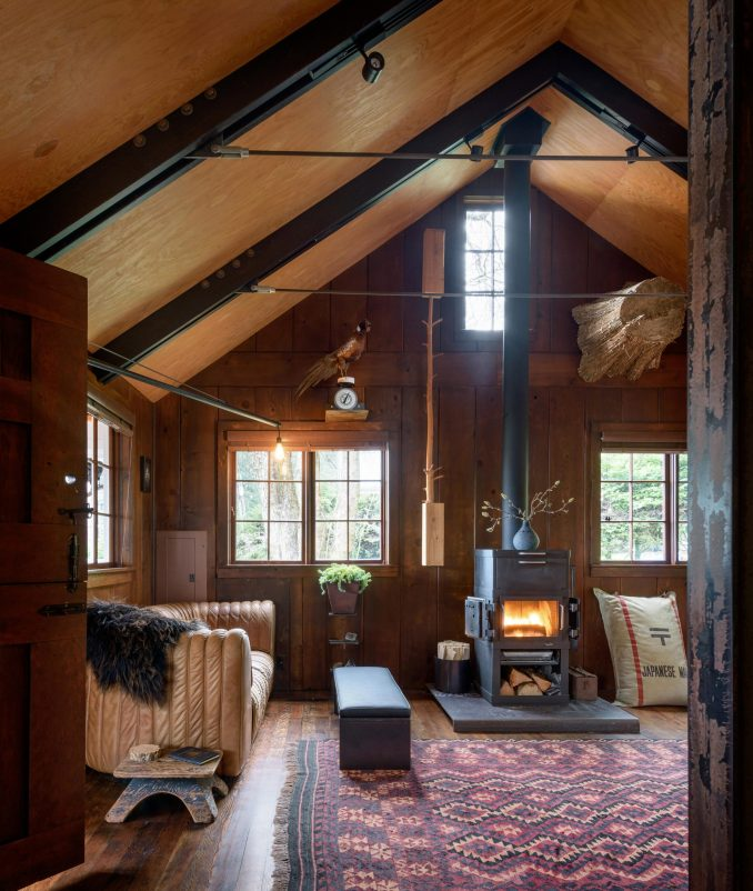 Living room of Agate Pass Cabin by Olson Kundig Architects
