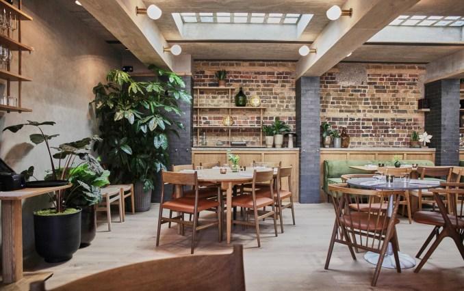 Interiors of Eldr restaurant inside Pantechnicon in London