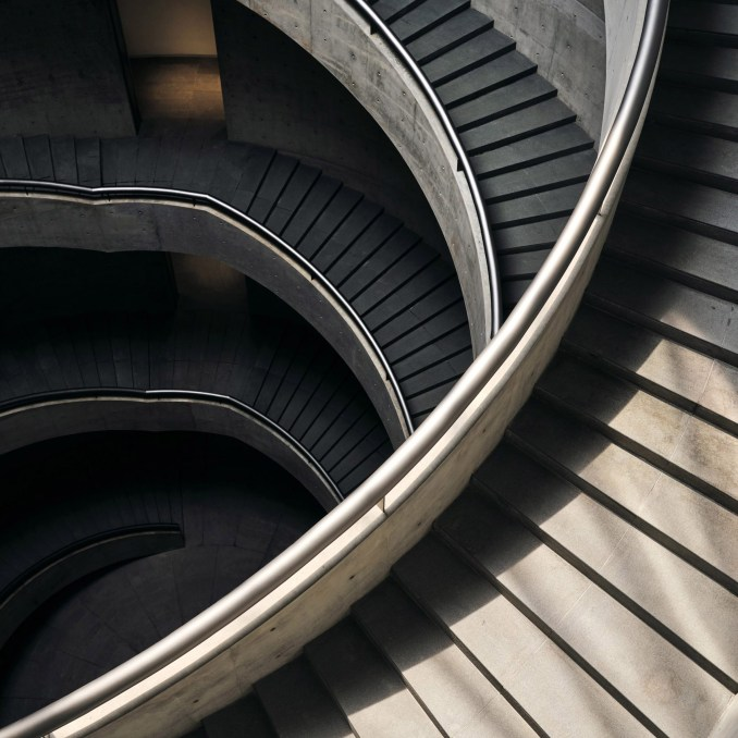 He Art Museum staircase by Tadao Ando