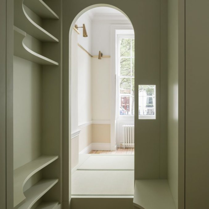 Upper Wimpole Street apartment by Jonathan Tuckey Design includes built-in storage walls