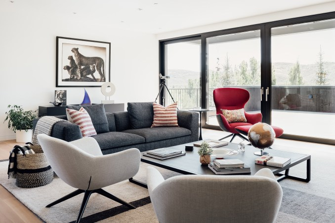 Living area of Meadows Haus Utah Klima Architecture