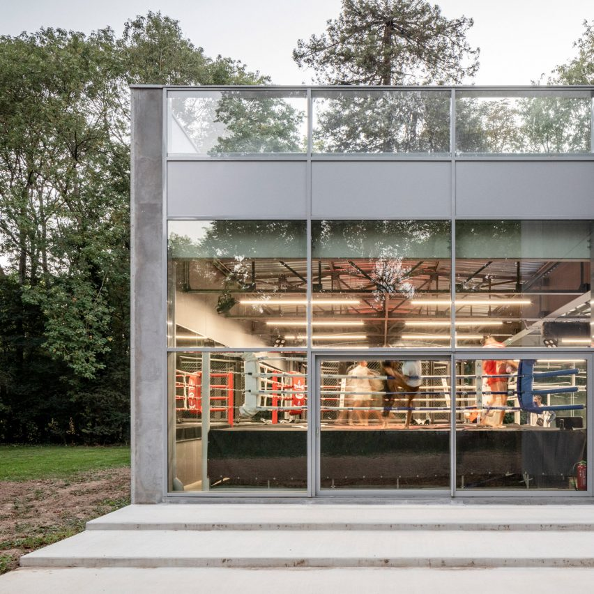 """Atelier Aconcept creates """"raw building"""" for French boxing club"""