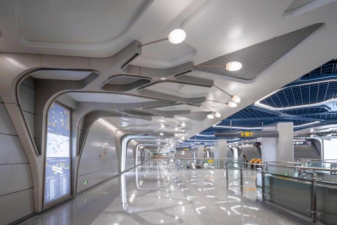 Cuqiao Station designed by J&A and Sepanta Design for Chengdu's metro Line 9