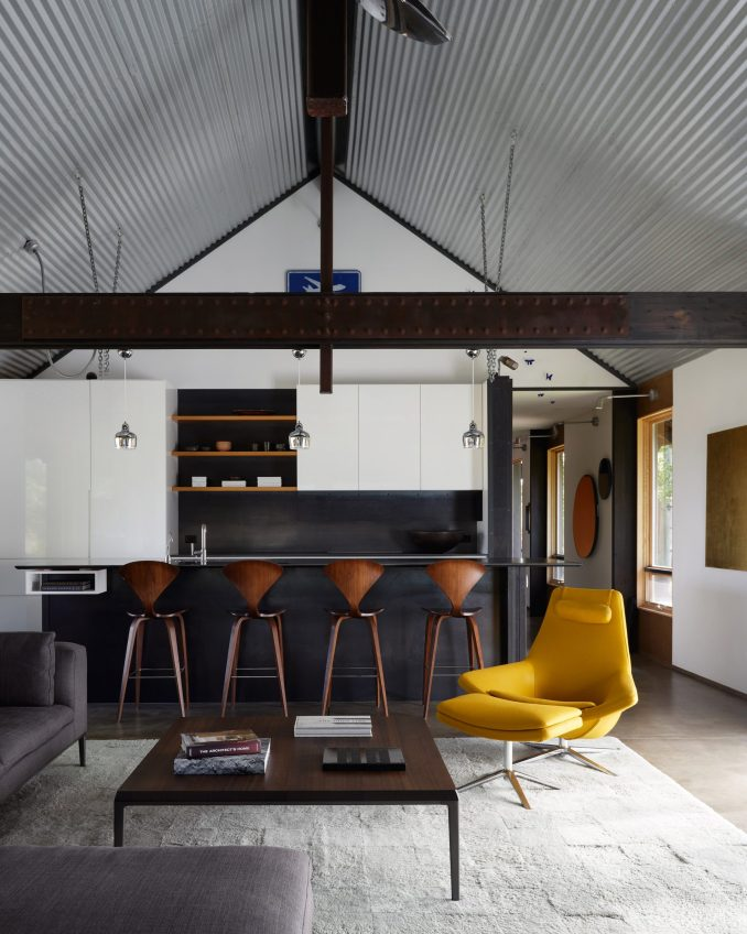 Kitchen of Logan Pavilion by CLB Architects