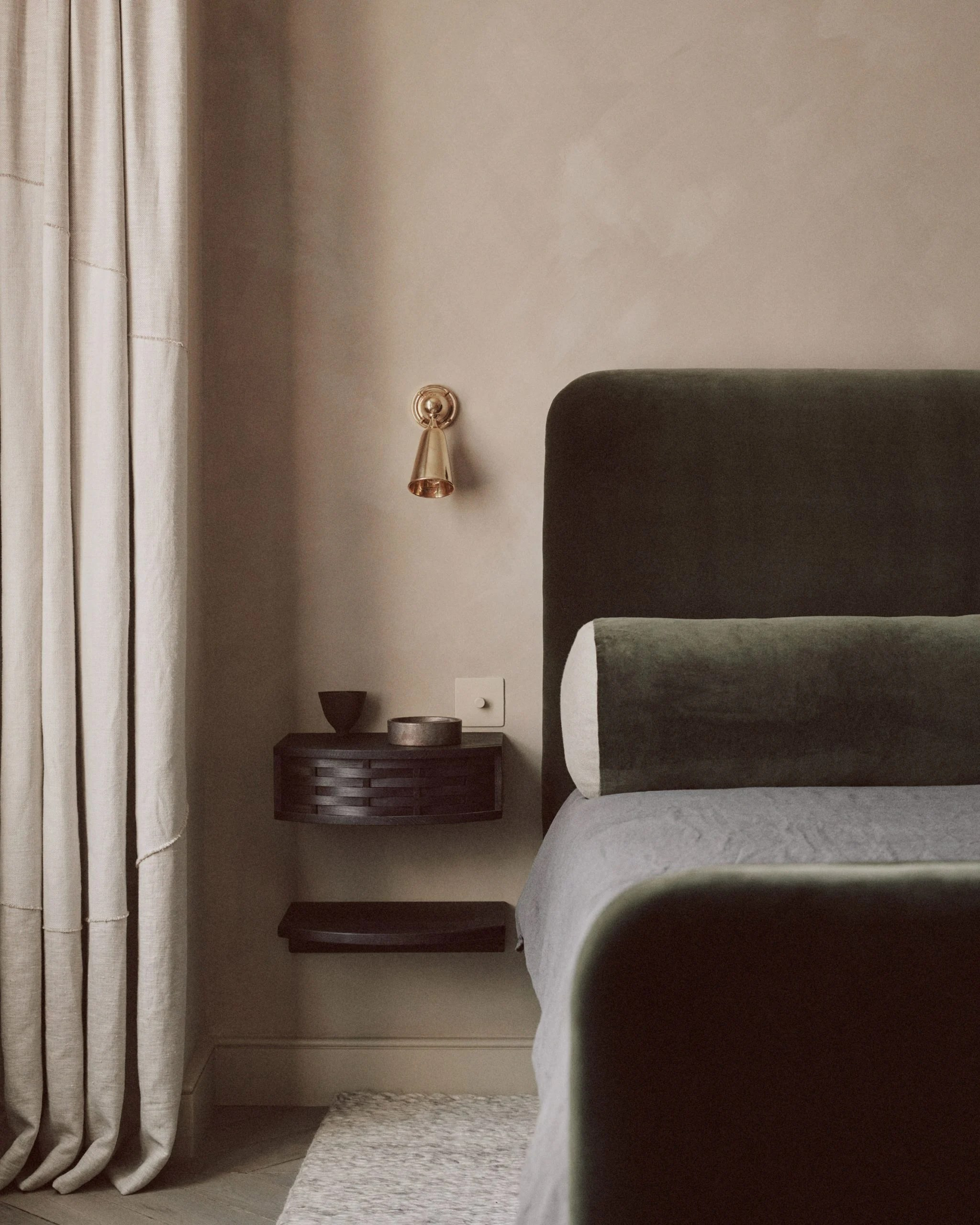 Master bed of House of Grey's Highgate House interior