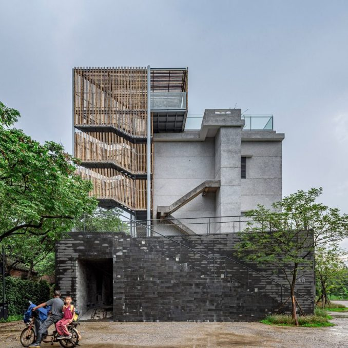 The exterior of (Re)forming Duichuan Tea Yards centre by O-office Architects
