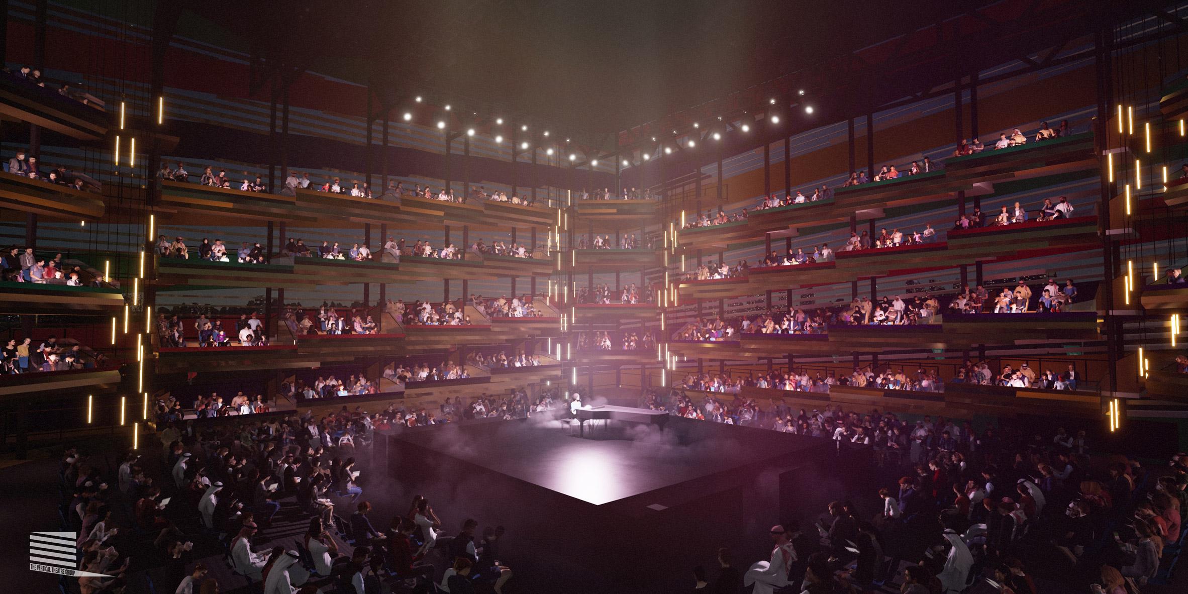 Socially distanced Vertical Theatre
