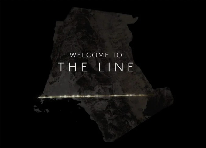 Image from the video introducing The Line