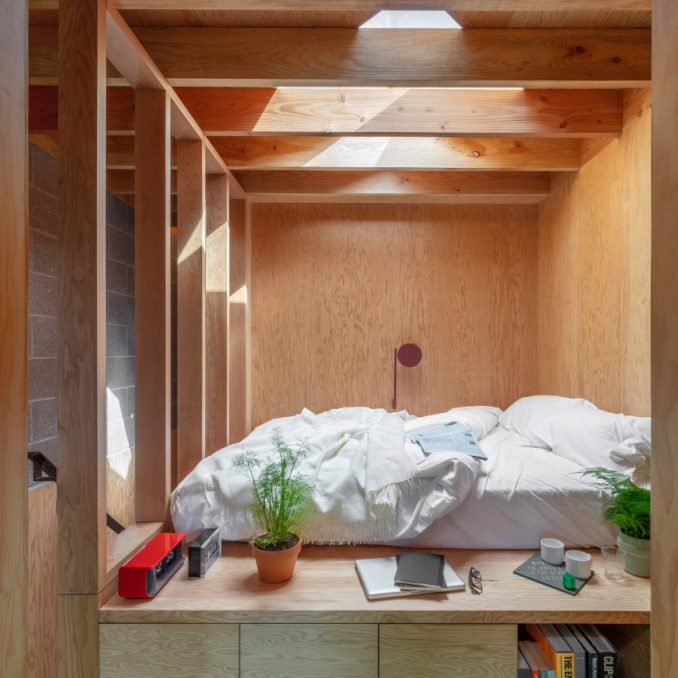 Bed in High Street House by Noiascape Teatum+Teatum