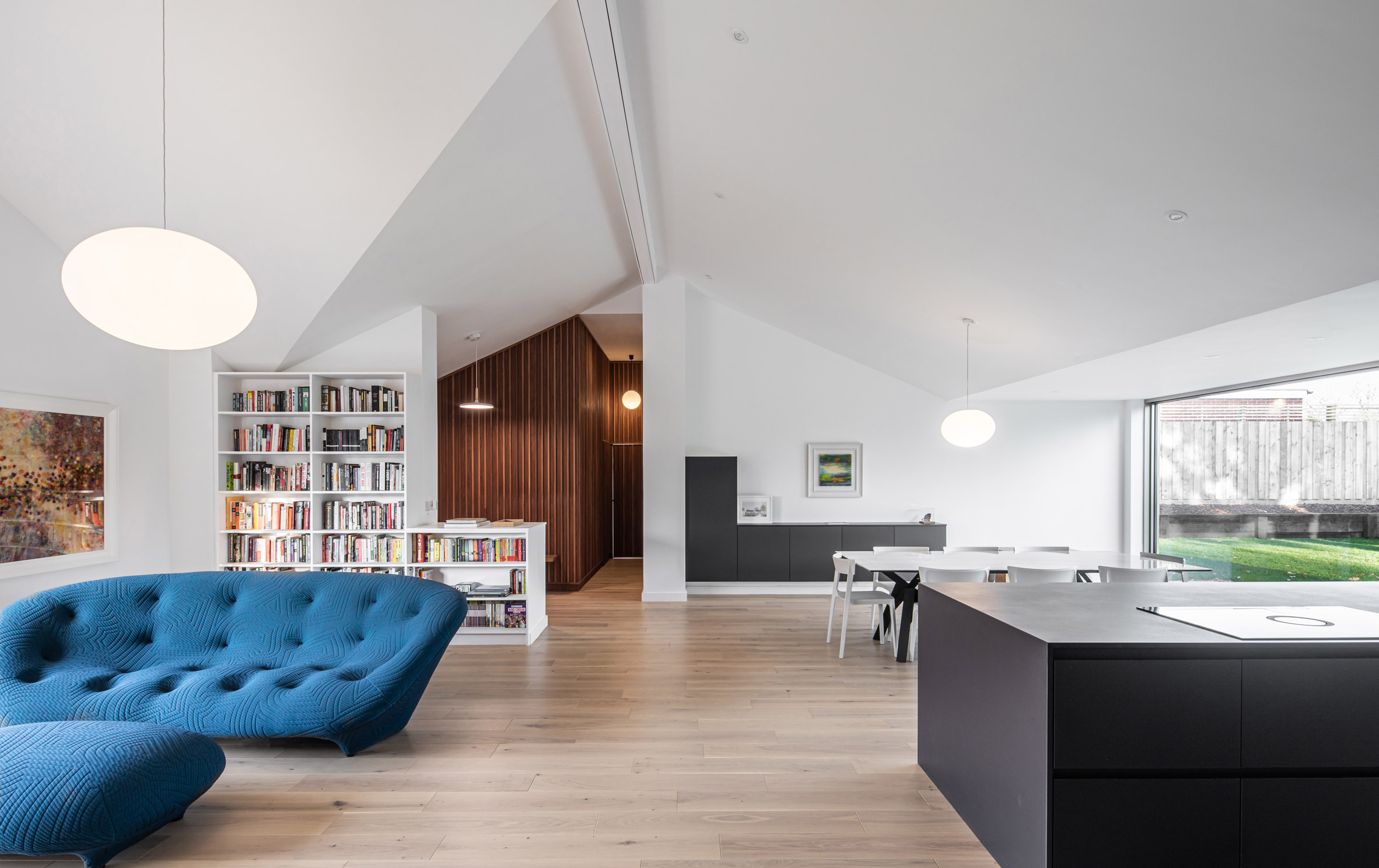 Interior of Honey and Walnut House renovated bungalow by Intervention Architecture
