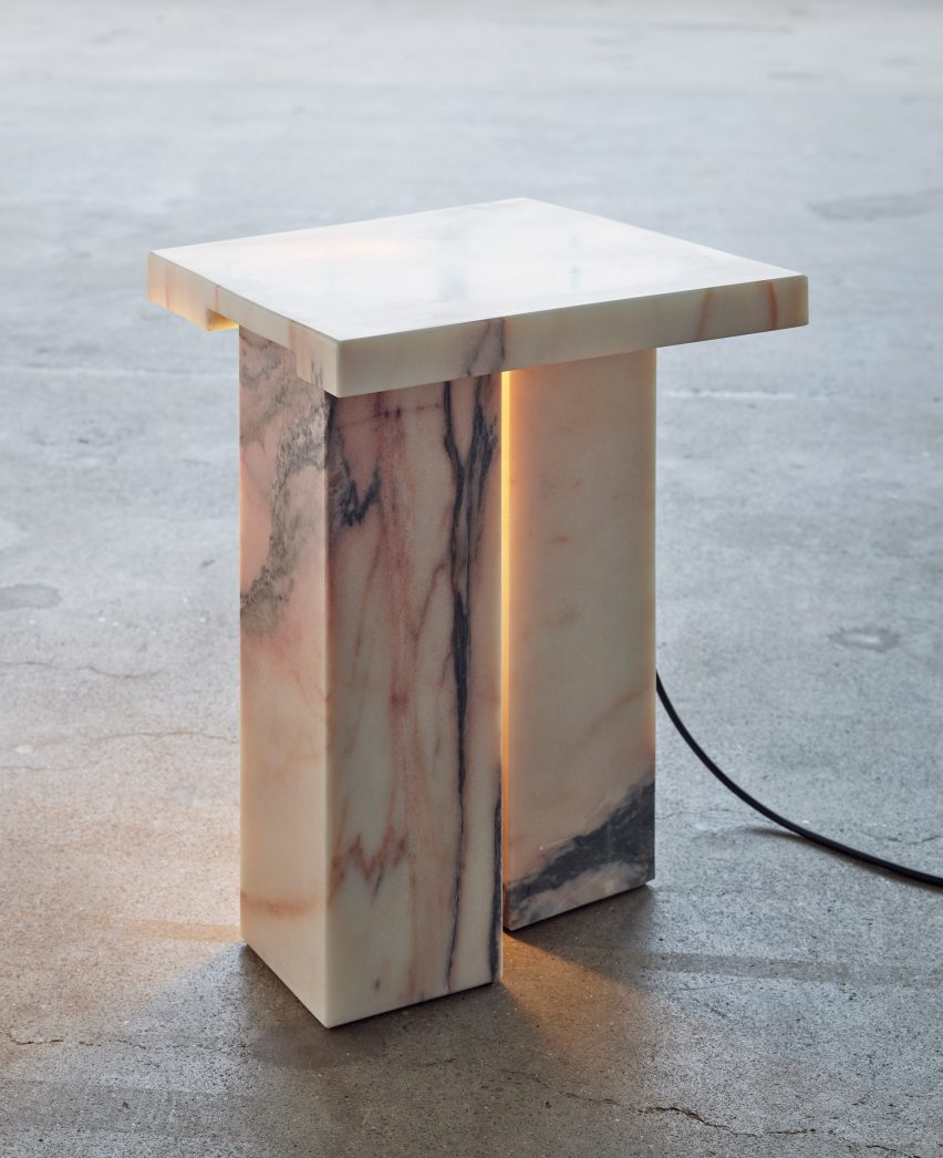 Work of design studio Bahraini-Danish Bedside Table by Bahraini-Danish in the Mindcraft Project exhibition