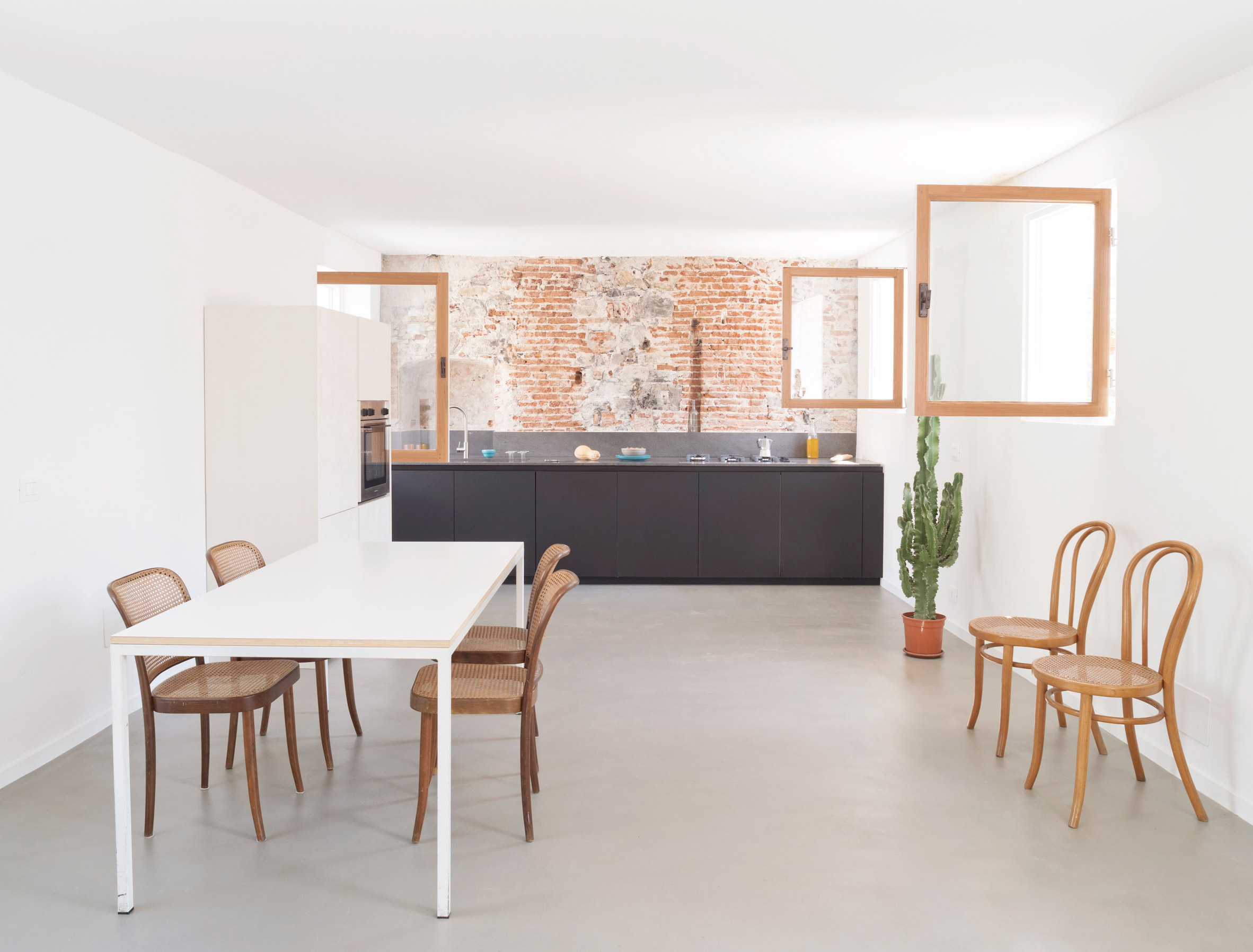 Kitchen in House for a Sea Dog in Genoa by Dodi Moss