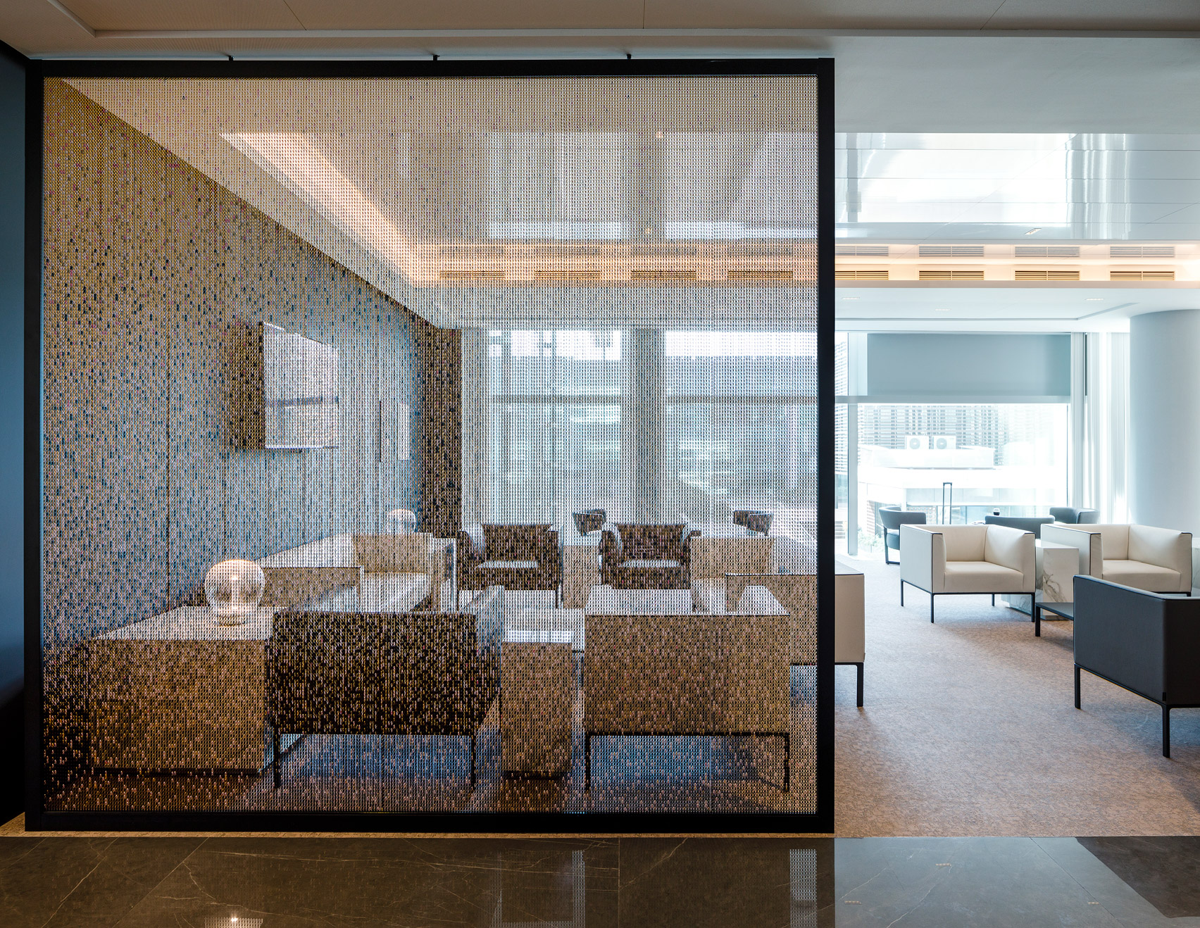 Kriskadecor installed at Pau Casals VIP lounge by efebearquitectur
