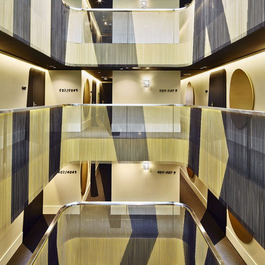 Kriskadecor installed at Vincci Gala Hotel by TBI Architecture