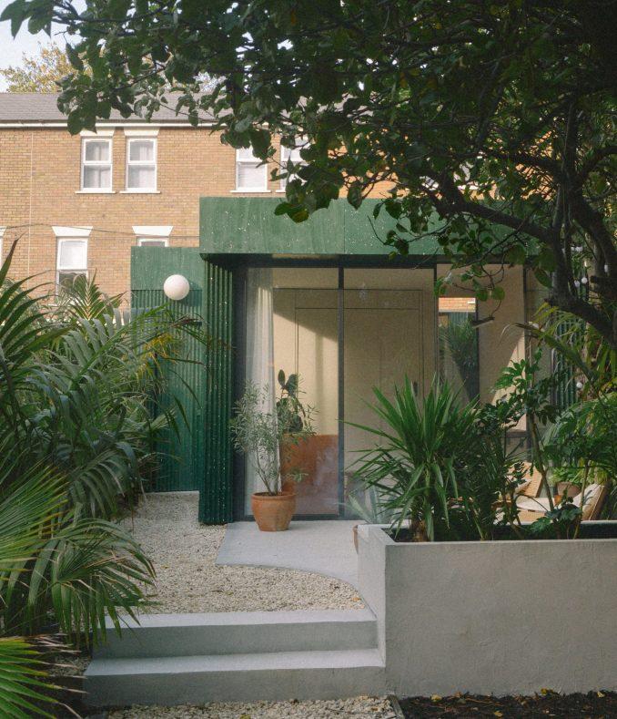 A terrazzo-clad garden studio