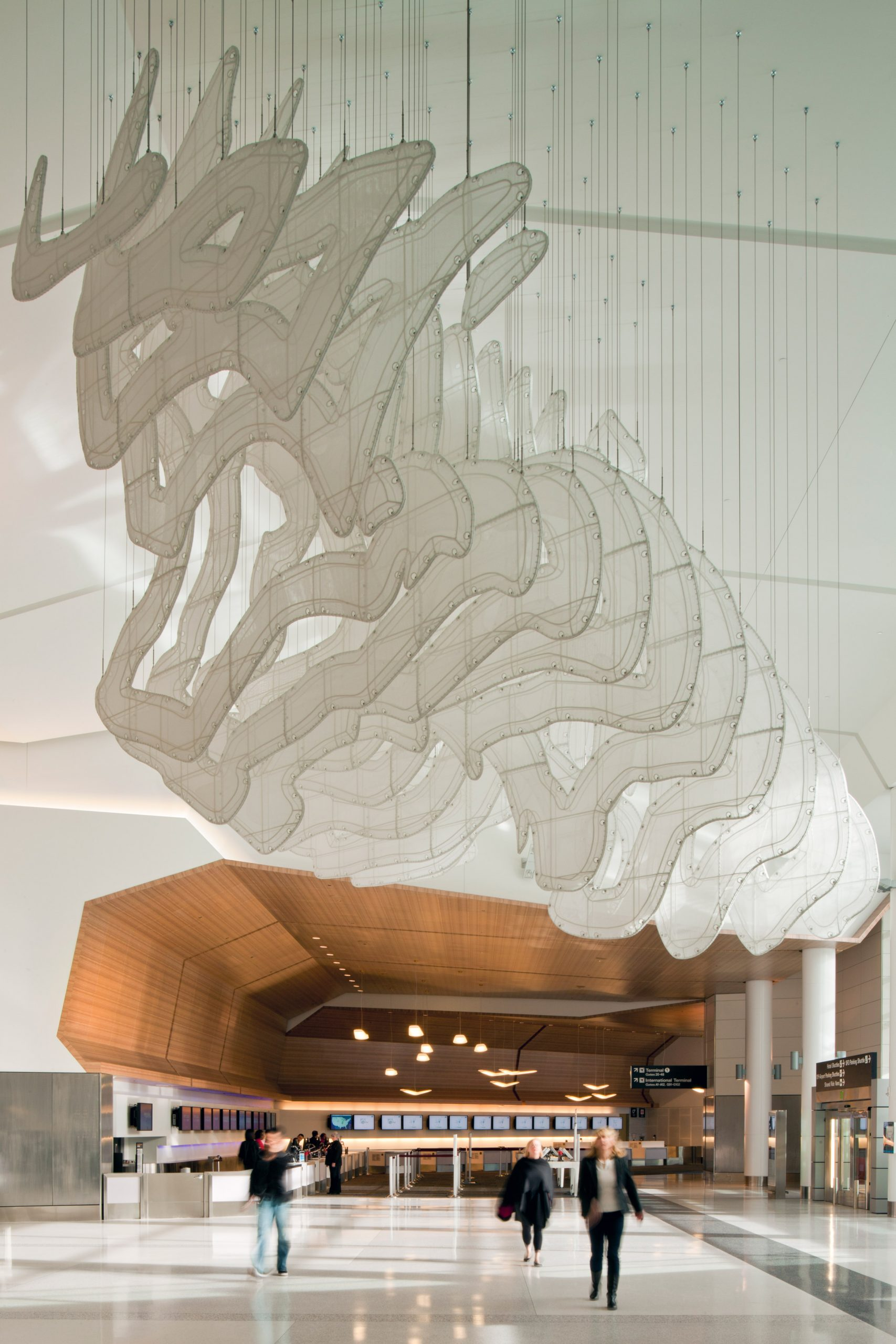 San Francisco airport interiors by Gensler