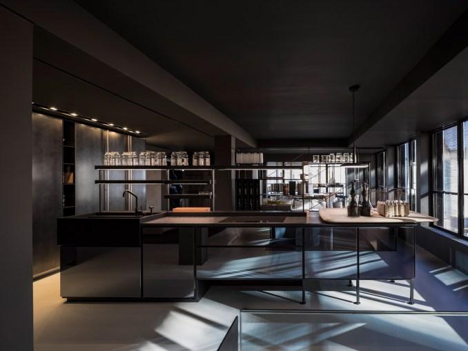 Kitchen in the Boffi De Padova Chelsea showroom