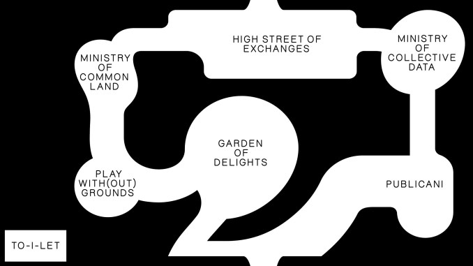 A map of the British Pavilion at Venice Architecture Biennale
