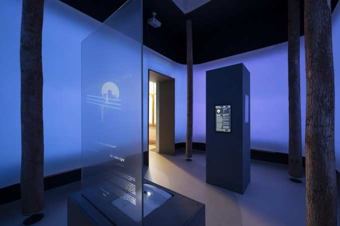 An interactive exhibition space in the British Pavilion