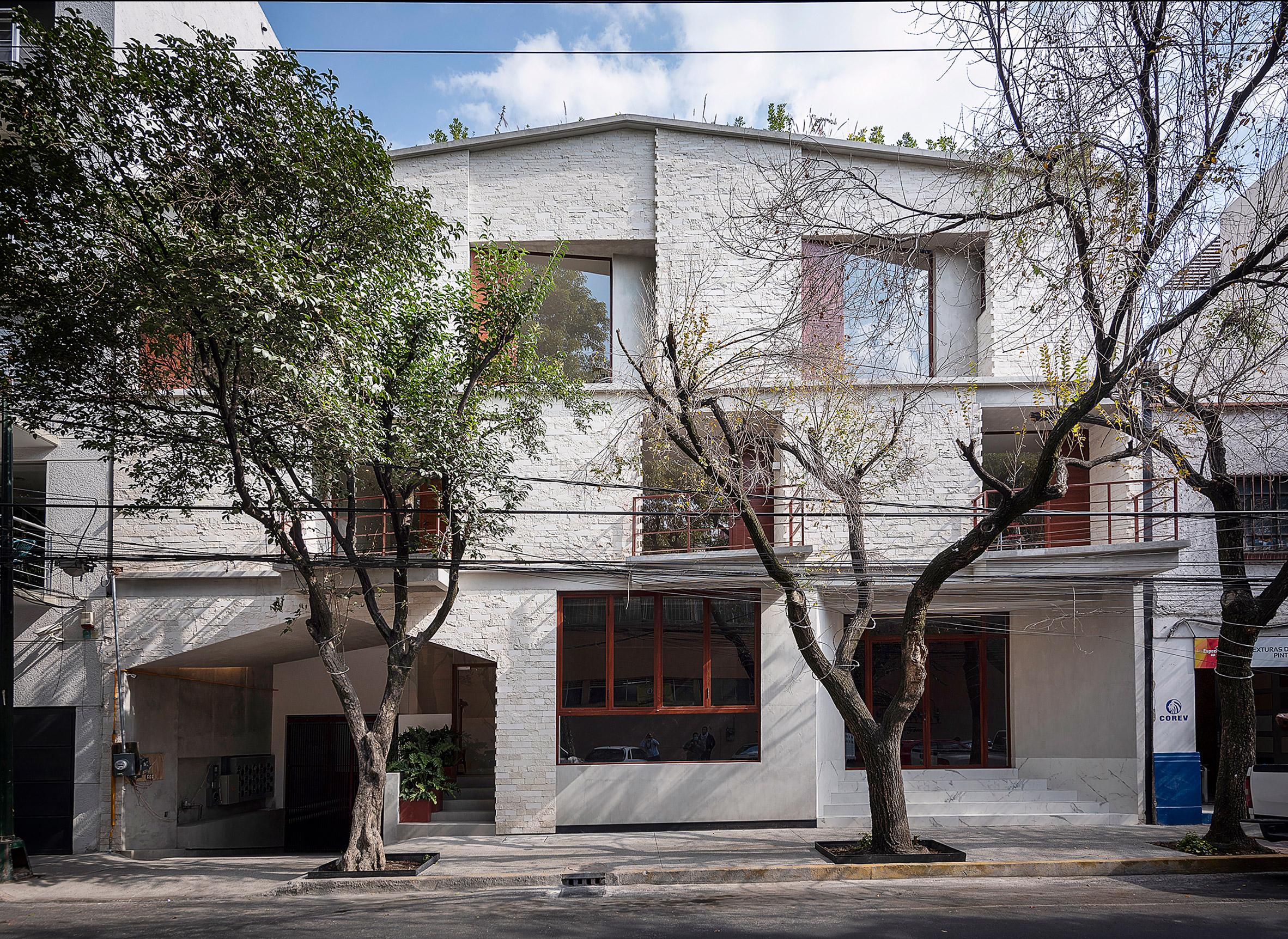CPDA Arquitectos created rustic-looking facades