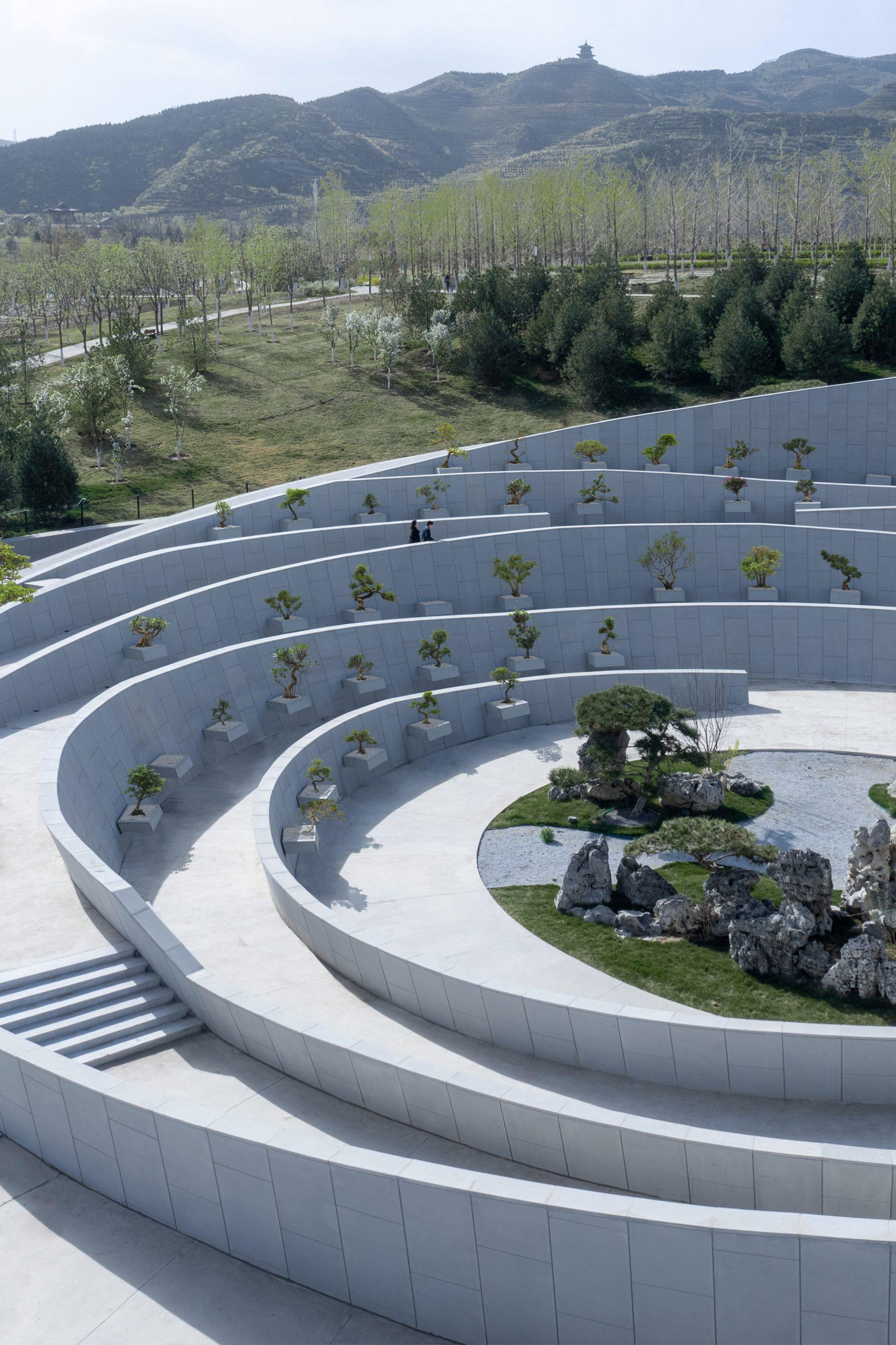 A bonsai garden