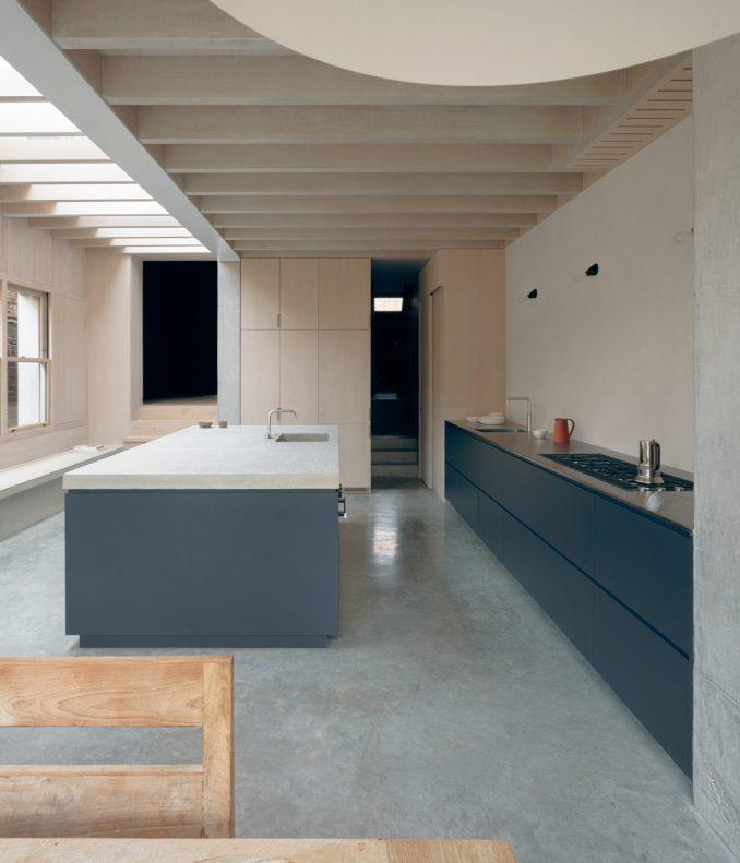 Concrete Plinth House has a large open-plan kitchen