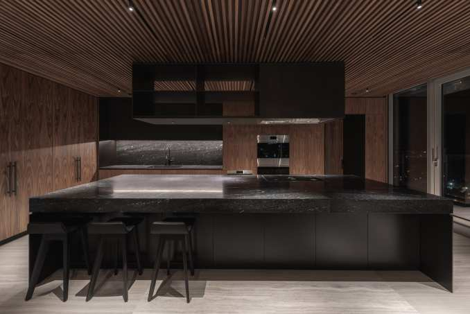 Leckie Studio inserted a kitchen into the lower level