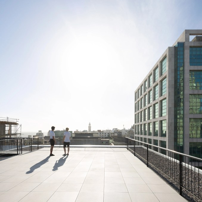 Rooftop terrace of The Florida Building by MAPA