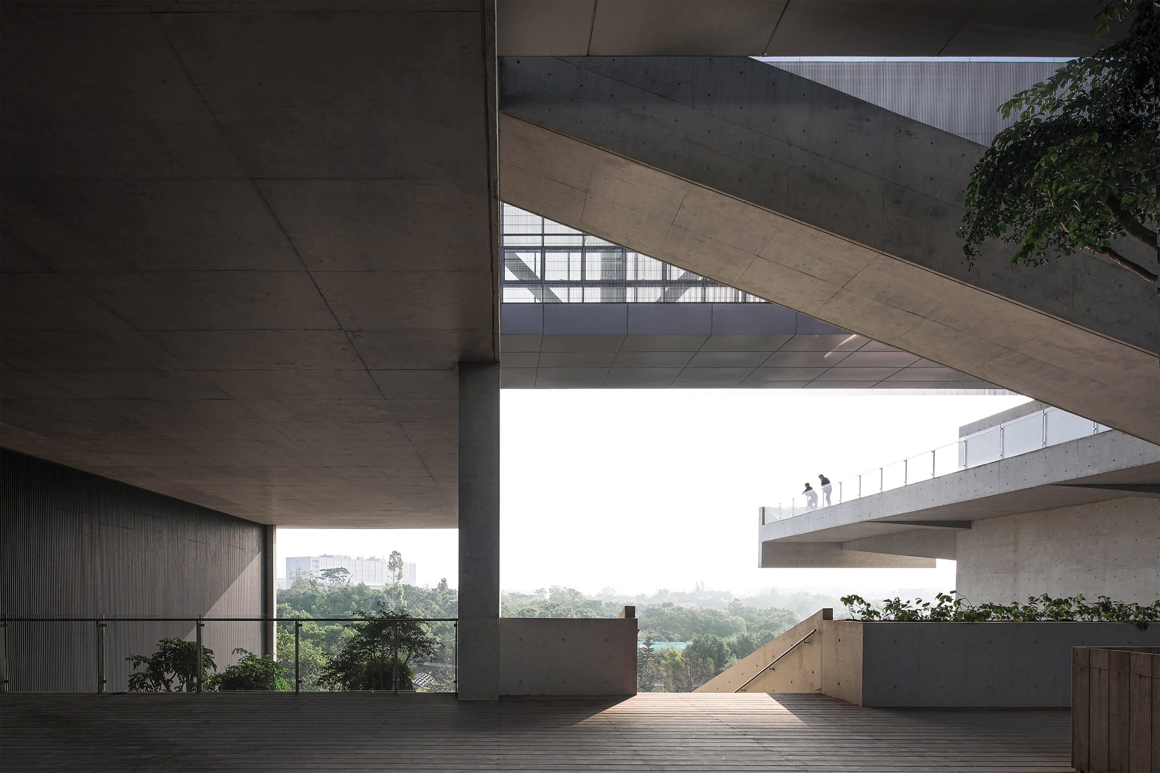 Terrace view at Pingshan Art Museum by Vector Architects