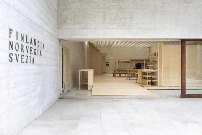 The exterior of the Nordic Pavilion at Venice Architecture Biennale