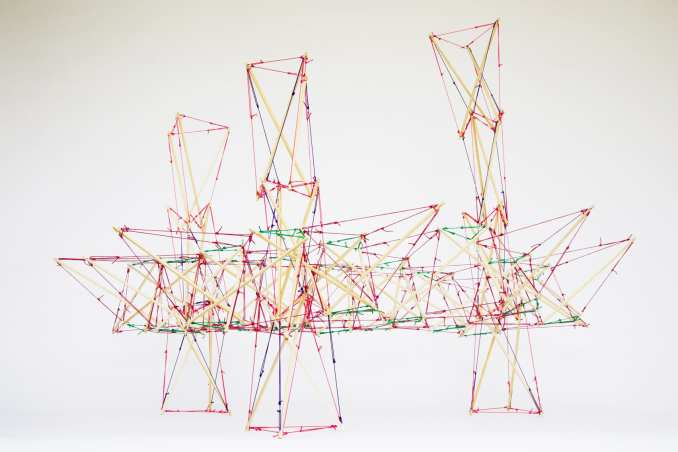 A model of a tensegrity structure