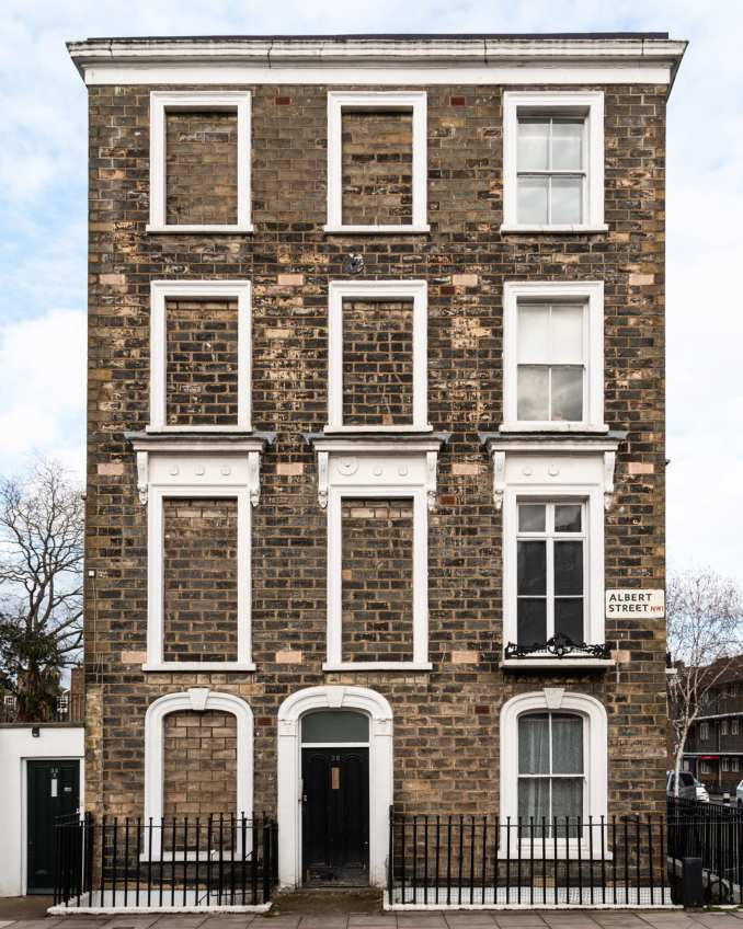 A dwelling in London with bricked-up windows