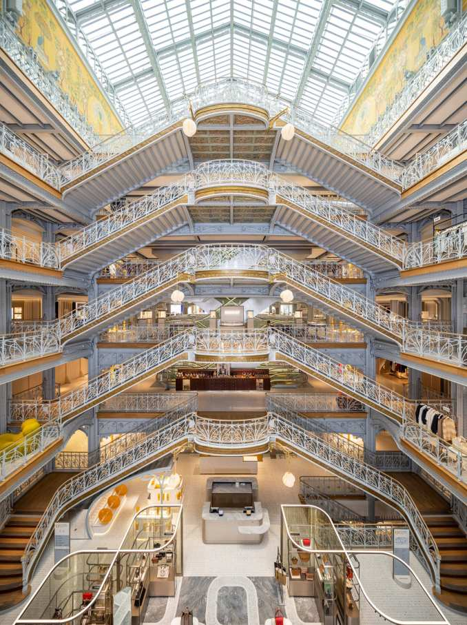 A staircase-filled atrium