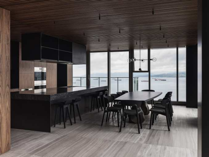 Leckie Studio used black accents in the project