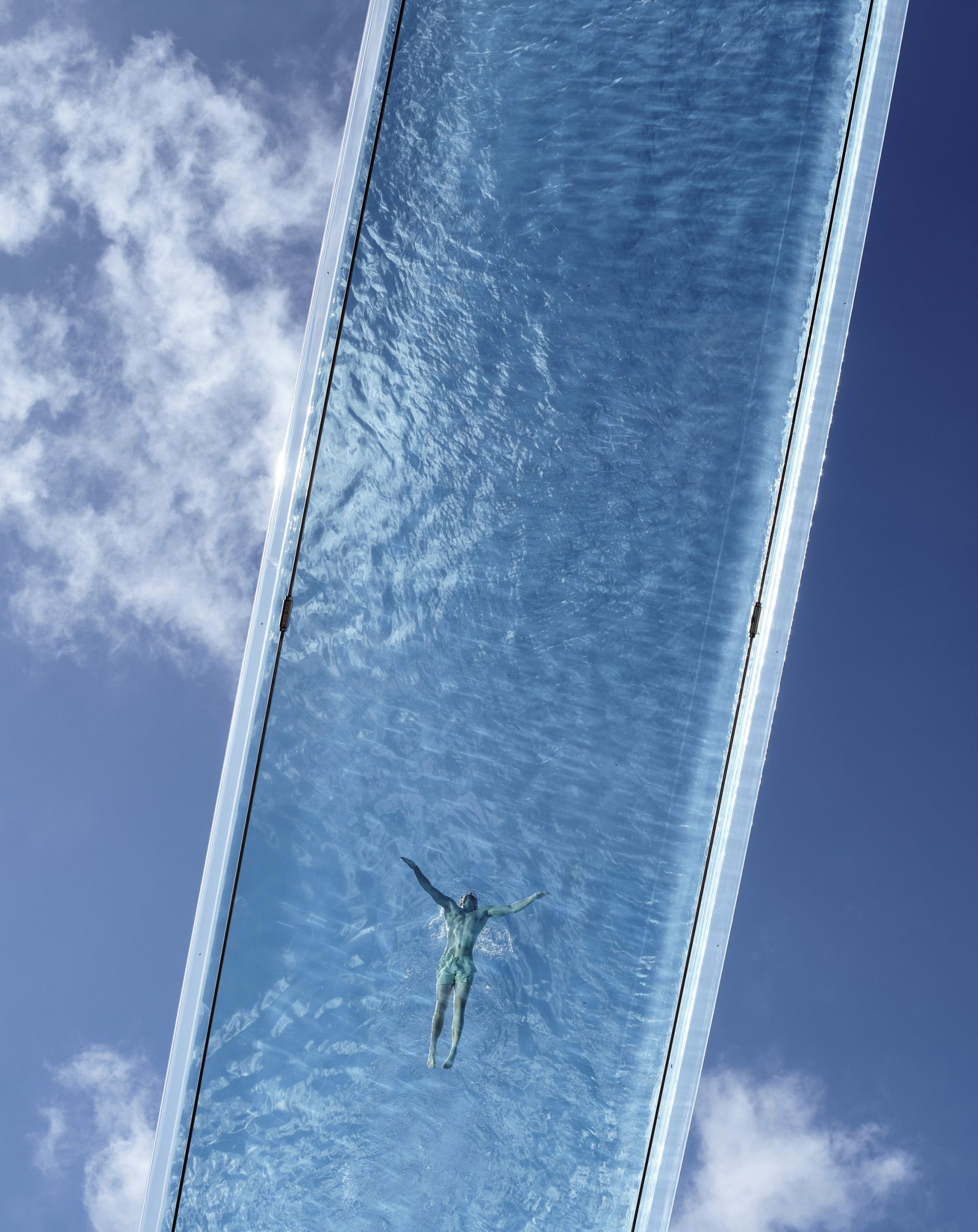 See-through pool in London