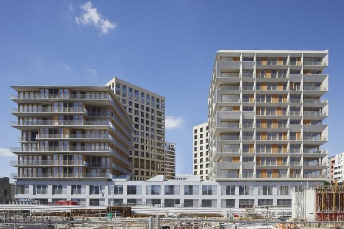 Two housing blocks in Paris