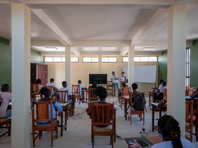 A classroom in the Startup Lions Campus in Kenya