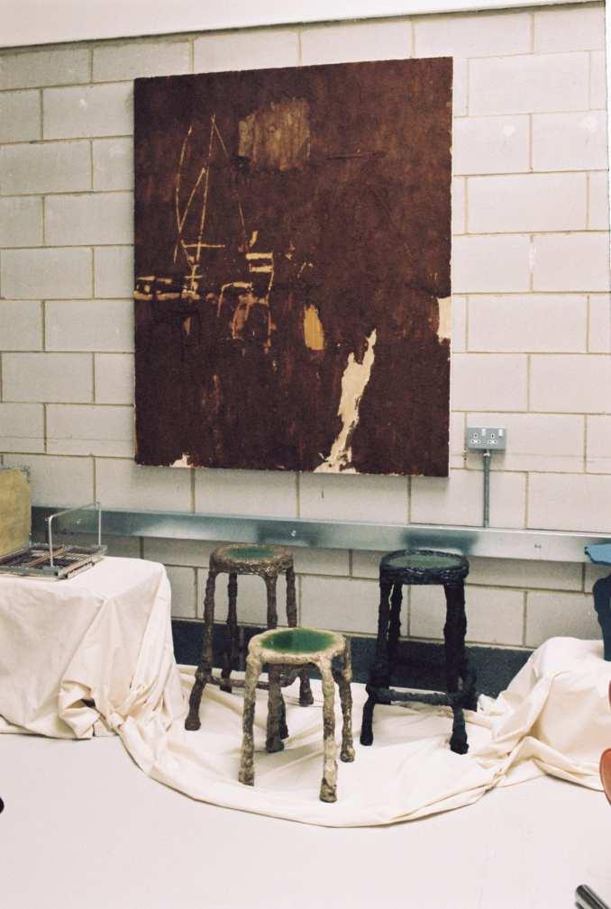 Artwork was displayed on brick walls at The Radford Gallery