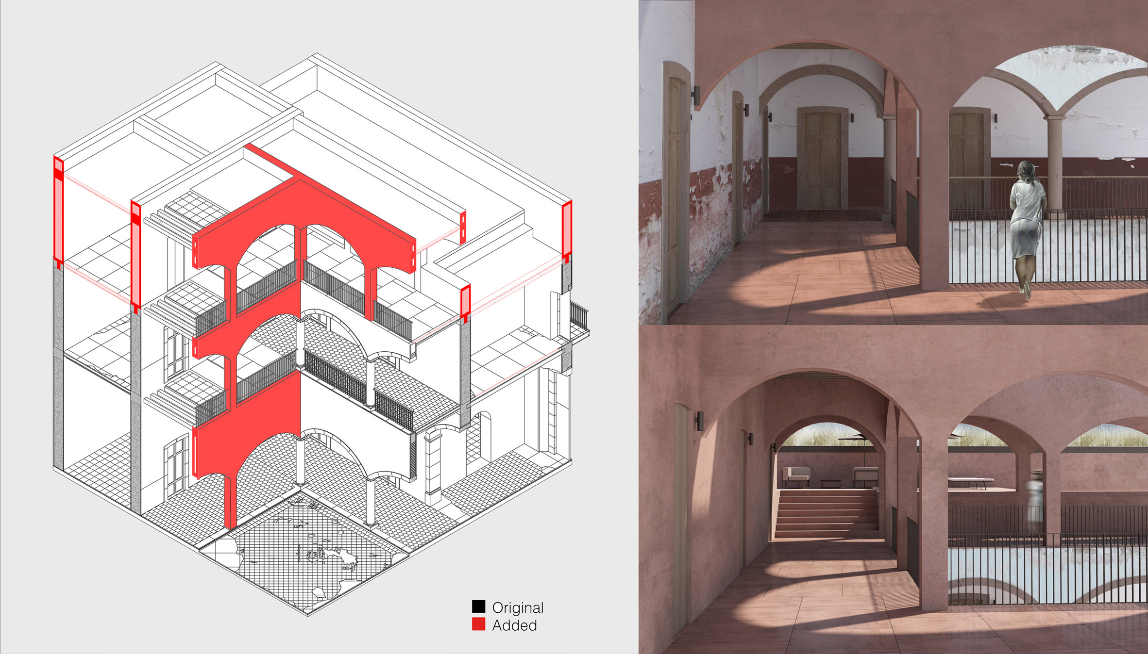 Historical Building Additions According to Chipperfield by Lorena Esquivel Maldonado