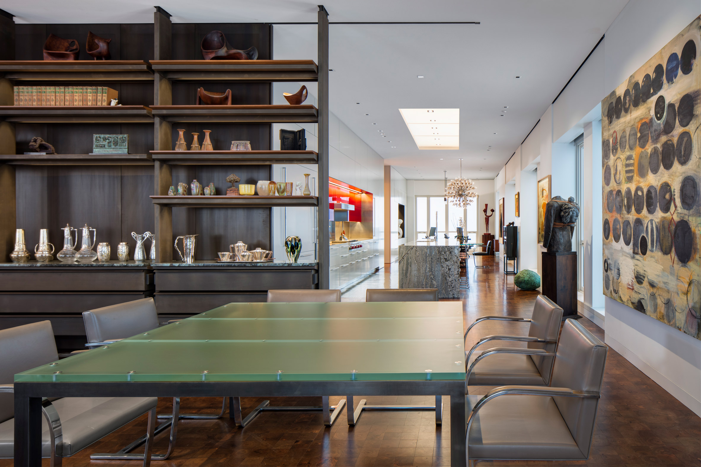 Home with an art-filled interior