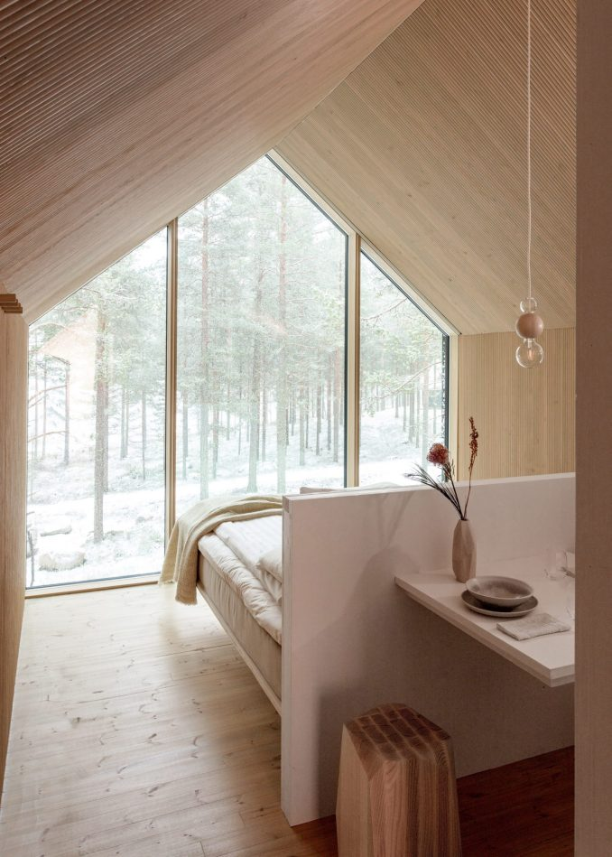 Gable ended bedroom by studio puisto