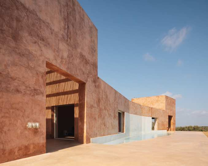 Casa Azul is built above the water tank