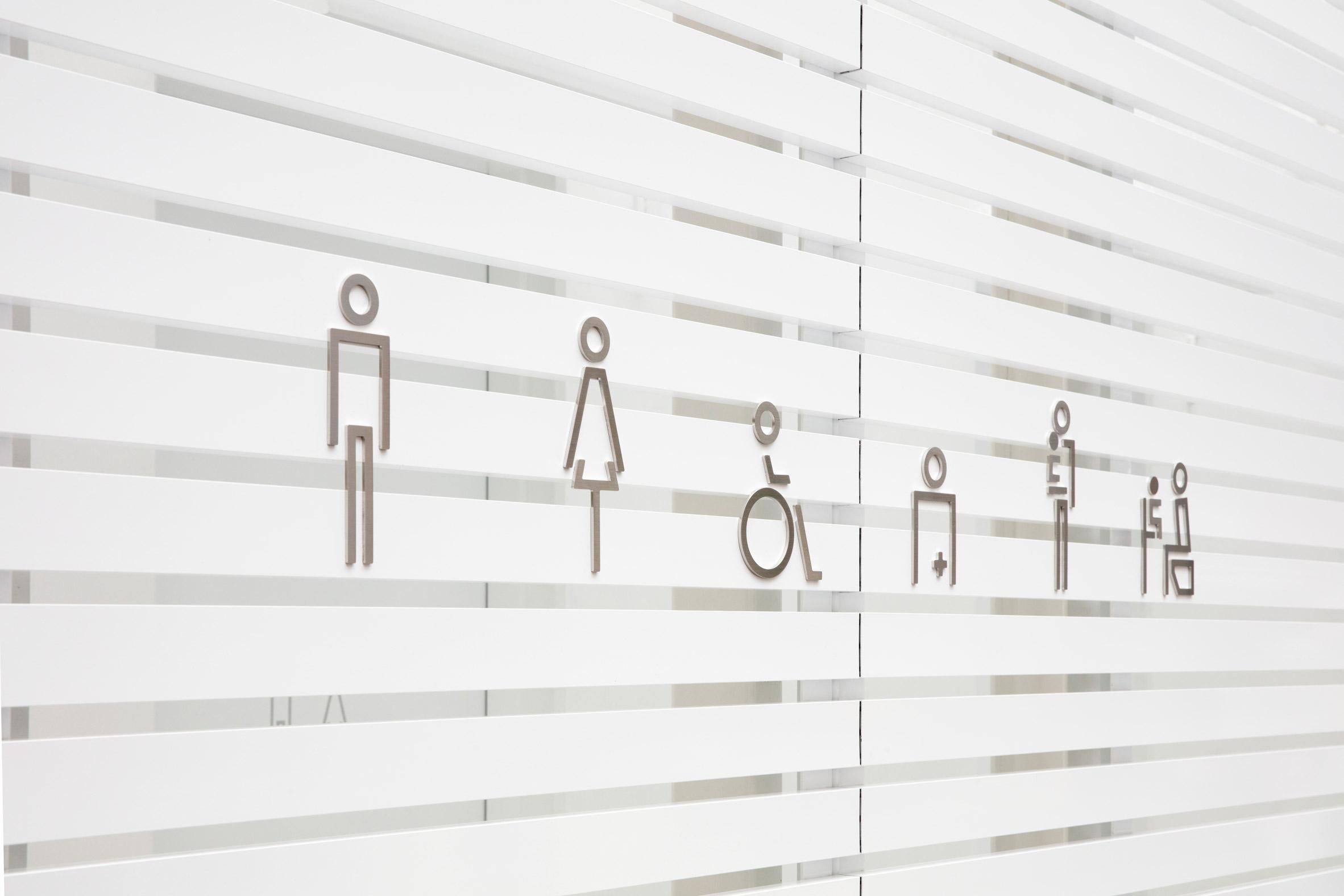 Toilet pictograms by Sato