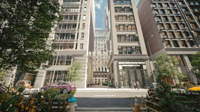 Render of Beyond the Street rezoning from the exterior