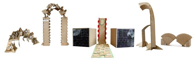 Cardboard Gates of Southwark project