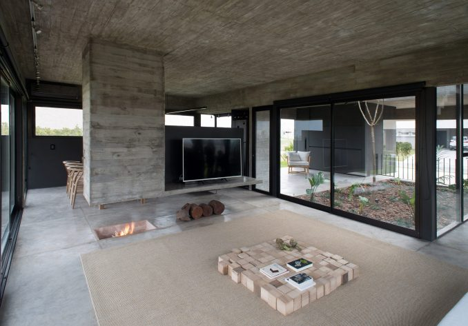 Concrete living room by María Belén García Bottazzini and Ekaterina Künzel